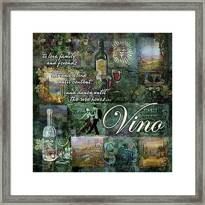Vino Framed Print by Evie Cook