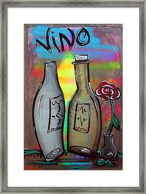 Vino Framed Print by Laura Barbosa