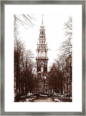 Vintage Amsterdam Framed Print by John Rizzuto