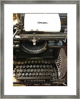 Vintage Antique Typewriter - Inspirational Vintage Typewriter  Framed Print by Kathy Fornal