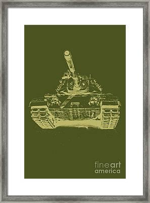 Vintage Army Tank Framed Print by Emily Kay