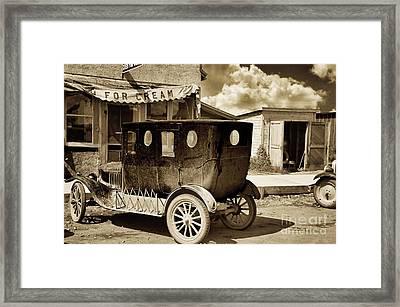 Vintage Automobile Framed Print by Mindy Sommers