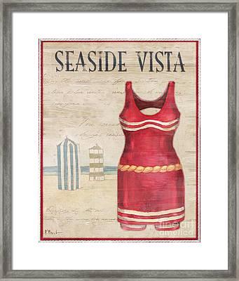 Vintage Bathing Suits II Framed Print by Paul Brent