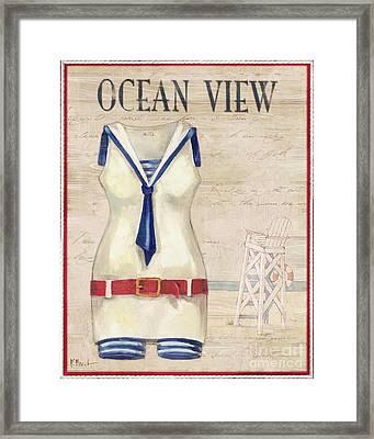 Vintage Bathing Suits IIi Framed Print by Paul Brent