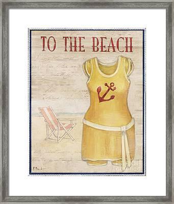Vintage Bathing Suits Iv Framed Print by Paul Brent