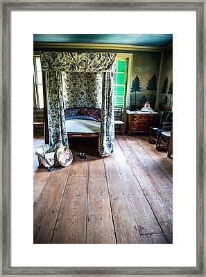 Vintage Bedroom Framed Print by Karol Livote