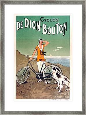 Vintage Bicycle Advertising Framed Print by Mindy Sommers