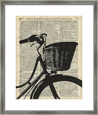 Vintage Bicycle Framed Print by Jacob Kuch
