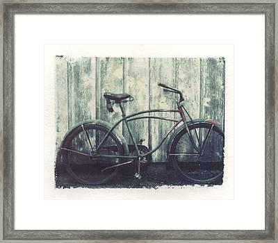 Vintage Bike Polaroid Transfer Framed Print by Jane Linders