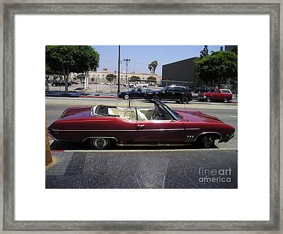Vintage Buick Skylark. Dark-red Framed Print by Sofia Goldberg