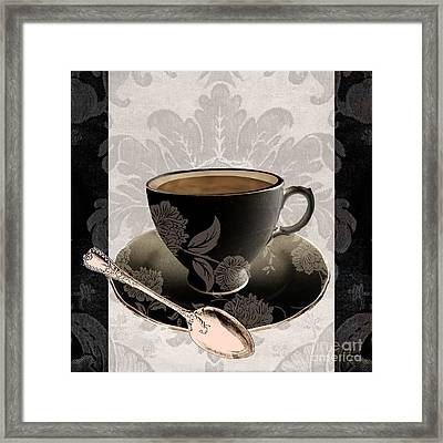 Vintage Cafe IIi Framed Print by Mindy Sommers