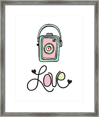 Vintage Camera Love Framed Print by Colleen VT