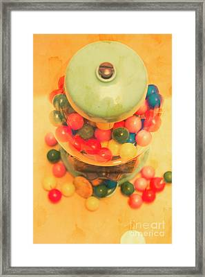 Vintage Candy Machine Framed Print by Jorgo Photography - Wall Art Gallery