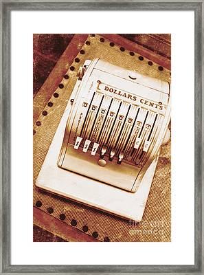 Vintage Cash Register  Framed Print by Jorgo Photography - Wall Art Gallery