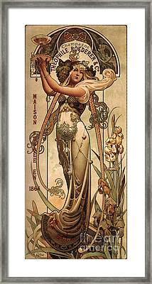 Vintage Champagne Ad Framed Print by Mindy Sommers