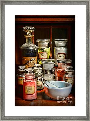 Vintage Chemistry Framed Print by Paul Ward