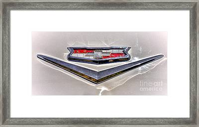 Vintage Chevrolet Badge Framed Print by Olivier Le Queinec