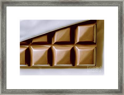 Vintage Chocolate Block Macro Framed Print by Jorgo Photography - Wall Art Gallery