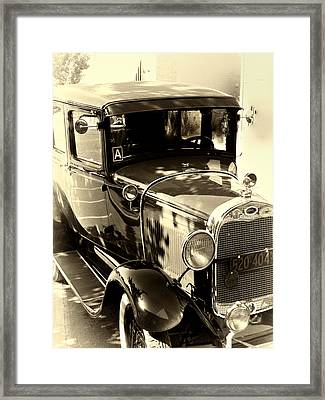 Vintage Classic Ride Framed Print by Julie Palencia