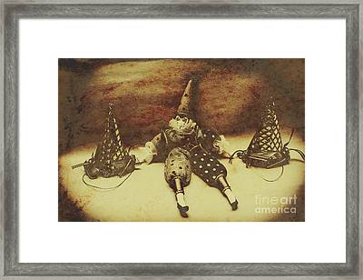 Vintage Clown Doll. Old Parties Framed Print by Jorgo Photography - Wall Art Gallery