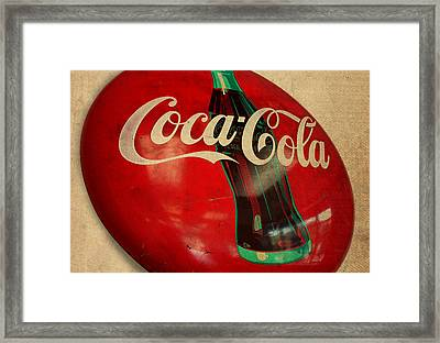 Vintage Coca Cola Sign Framed Print by Design Turnpike