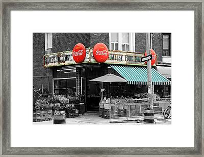 Vintage Coca Cola Signs Framed Print by Andrew Fare