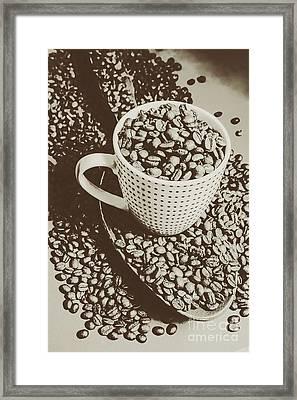Vintage Coffee Art. Stimulant Framed Print by Jorgo Photography - Wall Art Gallery