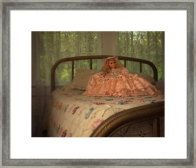 Vintage Doll Framed Print by Mitch Spence