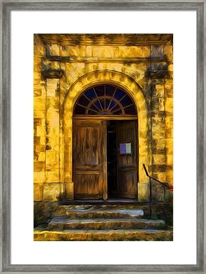 Vintage Entrance Framed Print by Georgiana Romanovna