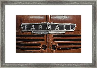 Vintage Farmall Tractor Framed Print by Scott Norris