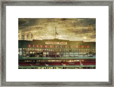 Vintage Fenway Park - Boston Framed Print by Joann Vitali