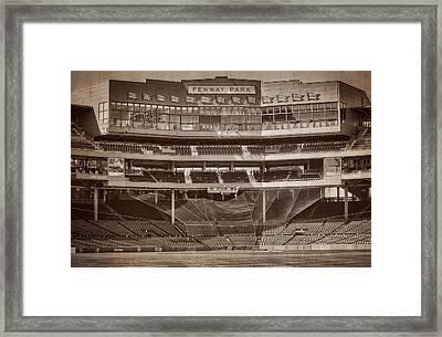 Vintage Fenway Park Framed Print by Susan Candelario