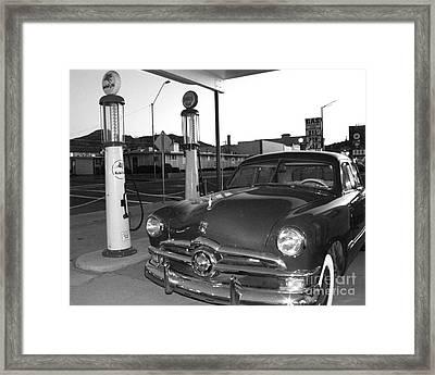 Vintage Ford Framed Print by Rebecca Margraf