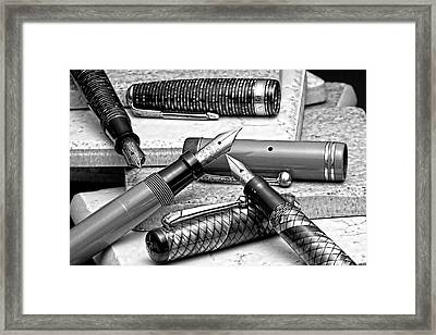 Vintage Fountain Pens Framed Print by Tom Mc Nemar