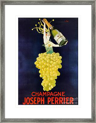 Vintage French Champagne Framed Print by Mindy Sommers