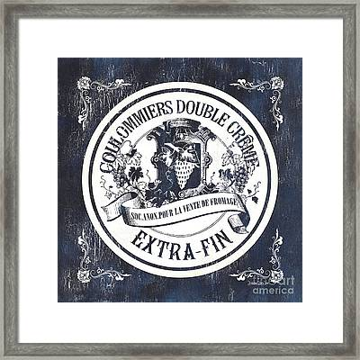 Vintage French Cheese Label 2 Framed Print by Debbie DeWitt