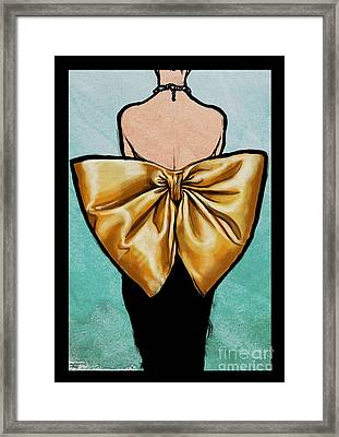 Vintage Glamour Fashion Dress Framed Print by Mindy Sommers