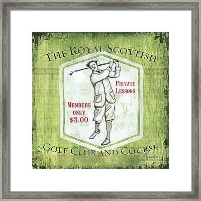 Vintage Golf Green 1 Framed Print by Debbie DeWitt