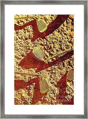 Vintage Golf Irons Framed Print by Jorgo Photography - Wall Art Gallery
