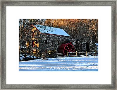 Vintage Grist Mill Framed Print by Mike Martin