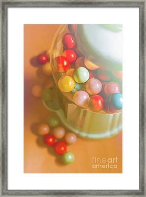 Vintage Gum Ball Candy Dispenser Framed Print by Jorgo Photography - Wall Art Gallery