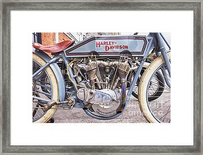 Vintage Harley Davidson Racer Framed Print by Tim Gainey
