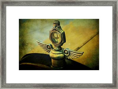Vintage Hood Ornament Framed Print by Cathie Tyler
