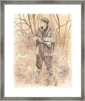 Vintage Hunting Framed Print by Morgan Fitzsimons