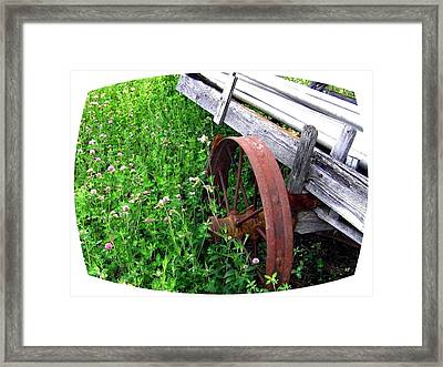 Vintage Irrigation Wagon Framed Print by Will Borden
