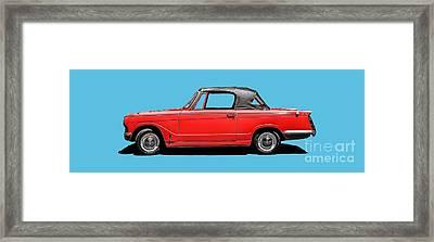 Vintage Italian Automobile Red Tee Framed Print by Edward Fielding