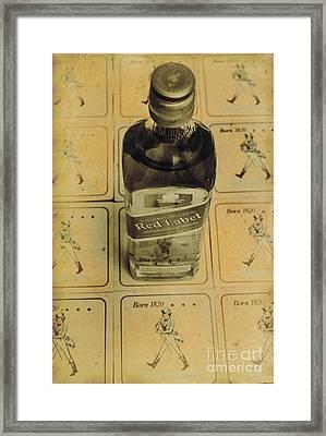 Vintage Johnnie Walker Advert Framed Print by Jorgo Photography - Wall Art Gallery