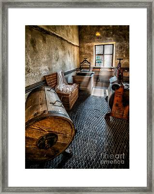 Vintage Laundry Room Framed Print by Adrian Evans