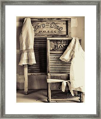 Vintage Laundry Room Framed Print by Mindy Sommers
