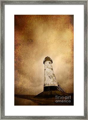 Vintage Lighthouse Framed Print by Meirion Matthias
